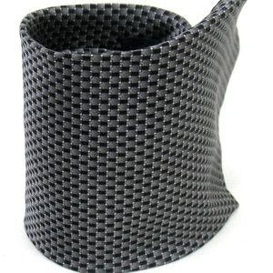 Roundtree & Yorke - Tie - Gray Tile Detail - 100%